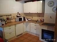 kuchyň - chalupa ubytování Horní Krupka