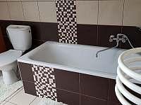 Koupelna - apartmán ubytování Abertamy
