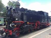 Parní vlak Fichtelbrg - chata k pronajmutí Loučná pod Klínovcem