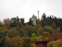 Pohled na Šlikovku ze zahrady - Jáchymov
