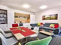 A3 - obývací pokoj s kuchyňským koutem - apartmán k pronájmu Loučná pod Klínovcem