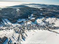 Letecký pohled na Pernink - chata ubytování Pernink