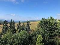 Pohled z okna - chalupa ubytování Horní Halže