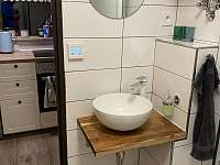 koupelna umyvadlo - chata k pronajmutí Jáchymov - Mariánská
