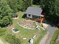 pohled z dronu 1 - pronájem chaty Jáchymov - Mariánská
