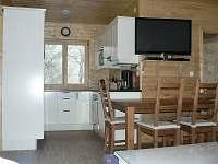 Kuchyň - chata ubytování Klíny