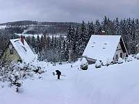 Chata Český Jiřetín zima -