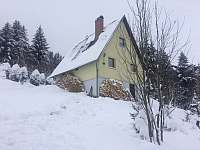 Chata Český Jiřetín zima - k pronajmutí