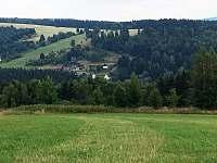 Pohled na Český Jiřetín - Mlejnky - chata ubytování Český Jiřetín