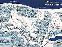Skiareál Český Jiřetín - mapa - chata k pronájmu