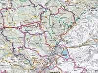 Běžecká a turystická mapa - pronájem chaty Svahová