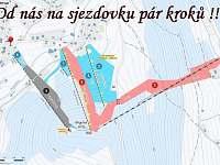 Zimní mapa - chata k pronájmu Bublava