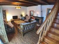 Obývací pokoj 2 - pronájem chaty Mariánská