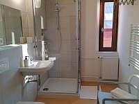Apartmán pro 4-5 osob koupelna - k pronájmu Horní Blatná