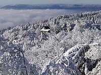 pohled směrem na Bouřňák - pronájem chaty Horní Krupka