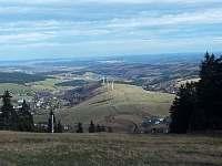 Pohled z Klínovce - pronájem chaty Boží Dar