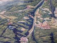 pohled na Plešivec, obec Mariánská, Chatu Borůvka a lyžařský vlek Nicolka