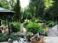 Zahrada. - apartmán ubytování Stříbrná