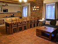 Kuchyň s obývacím pokojem - chata k pronajmutí Loučná pod Klínovcem - Háj