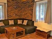 Obývací pokoj - pronájem chaty Loučná pod Klínovcem - Háj