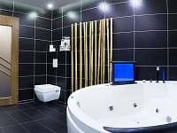 Koupelna Luxus 1 s whirpool a TV - Bečov