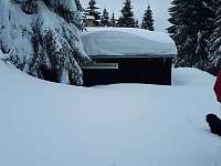 sněhová čepice - chata ubytování Abertamy - Vršek