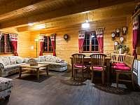 Společenská místnost - pronájem chalupy Háj u Jindřichovic