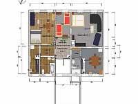 Uspořádání apartmánů - k pronájmu Abertamy