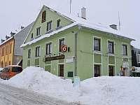 Celkový pohled v zimě - Horní Blatná