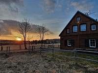 Západ slunce - chalupa ubytování Abertamy
