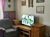 TV se společenské místnosti - chata ubytování Nové Hamry