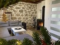 Obývací pokoj - chata k pronájmu Oldřiš