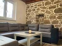 Obývací pokoj - chata ubytování Oldřiš
