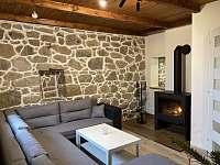Obývací pokoj - chata k pronajmutí Oldřiš