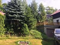 Ohniště + zahrada - chata k pronajmutí Lípa