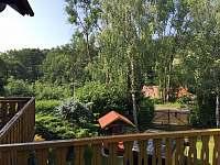 Výhled z terasy - chata k pronájmu Lípa