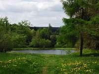 nedaleký rybník - apartmán k pronajmutí Kovářská