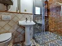 Koupelna v přízemí - chalupa k pronájmu Abertamy