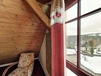 Ložnice č.1 pro 4 osoby s výhledem na Plešivec - Abertamy