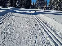 Běžkařské tratě - směr Špičák - chata k pronájmu Boží Dar