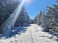 Trasa - Klínovec - pronájem chaty Boží Dar