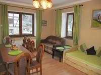 obývací pokoj - pronájem rekreačního domu Merklín
