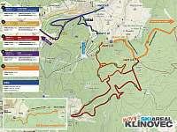 Běžecké tratě Klínovec - Kovářská