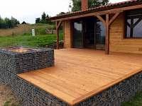 venkovní terasa - pronájem chaty Horní Halže