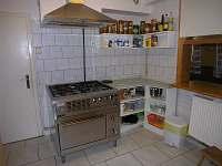 kuchyň - chata k pronajmutí Jáchymov - Mariánská
