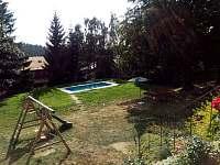 pohled z terasy - chata k pronajmutí Jáchymov - Mariánská