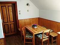 společenský prostor v patře - ubytování Kytlice