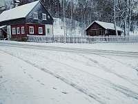 zimní pohled z penzionu - Kytlice