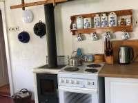 Kuchyň - chalupa ubytování Jitrava