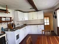Kuchyň - pronájem chalupy Jitrava